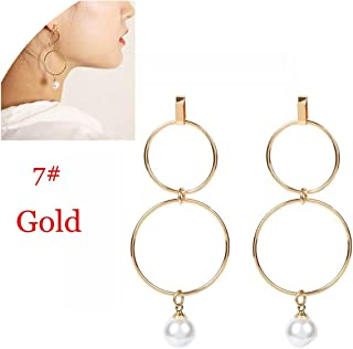 Xivikow Hot Fashion 100/% 925 Sterling Silver Lucky Forever Circular Stud Earrings For Women