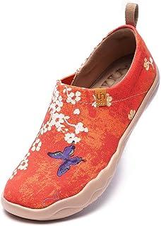 UIN Scarpe da Ginnastica Leggere da Donna Sneakers Basse da Passeggio Scarpe da Viaggio dipinte a Fiori Casual Oopsie Daisy