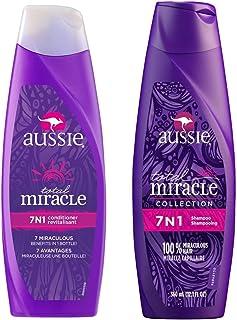 Kit 1 Shampoo Aussie 7 em 1 Total Miracle 360ml + 1 Condicionador Aussie 7 em 1 Total Miracle 360ml