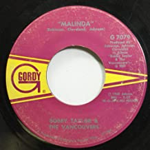 BOBBY TAYLOR & THE VANCOUVERS 45 RPM MALINDA / IT'S GROWING