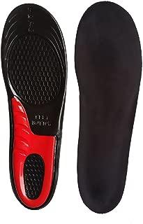 Gel Insoles Shoe Inserts Full Length Insole Absorb Shock for Men & Women Black S