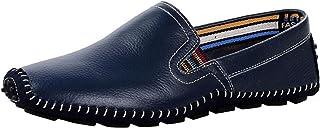 DADAWEN Mocassins Homme Chaussures Bateau en Cuir
