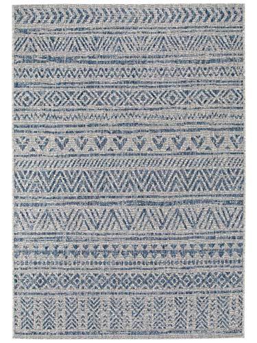 Benuta In- & Outdoor-Teppich Cleo Blau 80x150 cm - Outdoor-Teppich für Balkon & Garten, 4053894760235