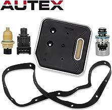 AUTEX Transmission Governor Pressure EPC Sensor Out Speed Solenoid Filter Kit 2000+ Compatible With Dodge Ram 3500 & Dakota & Durango & Ram 1500 & Ram 2500(for 14 holes gasket)