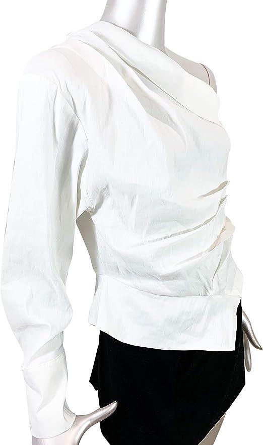 Zara 2224/892 - Camiseta asimétrica para mujer - Marfil ...