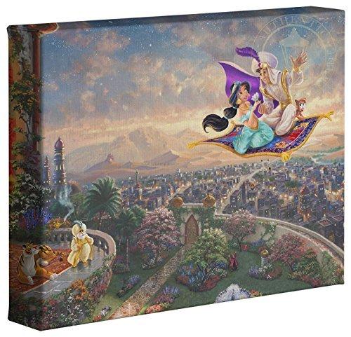 Thomas Kinkade Disneys Aladdin 8 x 10 Gallery Wrapped Canvas