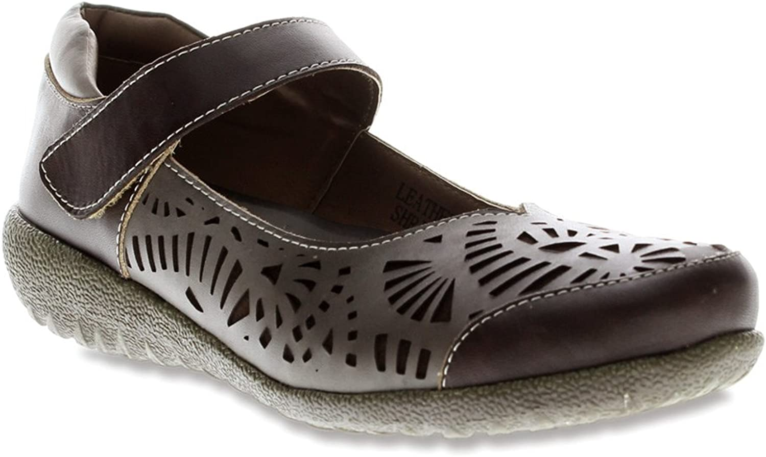 Spring Step Women's Shrive Taupe Flat 37 (US Women's 6.5-7) M