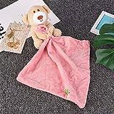 5月の贈り物 赤ちゃんのおもちゃ、なだめるようなタオル3色赤ちゃんのための赤ちゃんの感覚機能を促進するためのOptioanlは男の子と女の子のための赤ちゃんを落ち着かせるのに役立ちます(Pink)