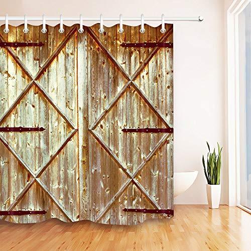 cortinas rusticas puerta
