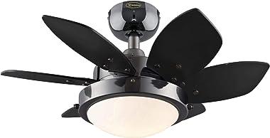 Westinghouse Lighting 7224600 Quince Indoor Ceiling Fan with Light, 24 Inch, Gun Metal