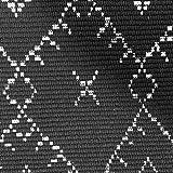 Ukeler Dekorativer geometrischer Kelim-Teppich, Baumwolle, bedruckt, moderner handgewebter Flickenteppich mit Quasten, langlebig, für Küche, Waschküche, Schlafzimmer, 60 x 130 cm, abstraktes Schwarz - 2