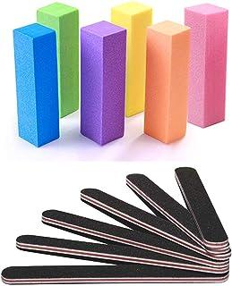 Nail Files and Buffer, Professional Manicure Tools Kit Rectangular Art Care Buffer Block Tools 100/180 Grit 12Pcs/Pa