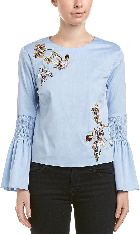 Catherine Catherine Malandrino Womens Long Sleeve Ruffle Dress Shirt