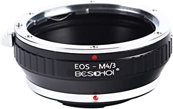 Beschoi EOS to Micro 4/3 Lens Mount Adapter for Canon EOS (EF/EF-S) Lens to Micro Four Thirds (MFT, M4/3) System Camera Body, Fits Olympus Pen and Panasonic Lumix Cameras