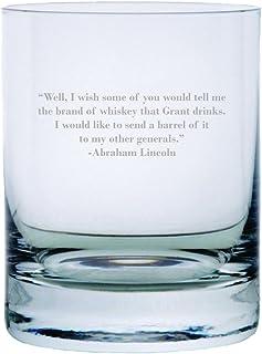 Abraham Lincoln Zitat geätzt 313 ml Stolzle New York Kristall Rocks Glas