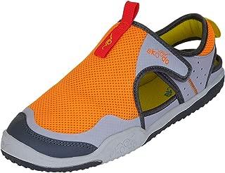 skoodo Kids Casual Sports Shoes (Boys and Girls 6-14 Years) - Winger Glide - Fiery Orange | Grey