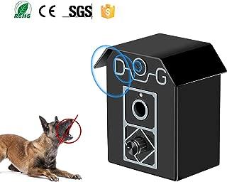 Gshine Sonic Bark Control Outdoor Bark Controller, Dog Anti Barking Device Stop Barking Dogs Silencer Bark Breaker (Anti Barking Device)