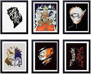 MS Fun Legend of Ninja Japanese Anime Uzumaki Naruto Uchiha Sasuke Art Prints,Set of 6,8 x 10 Inches,No Frame