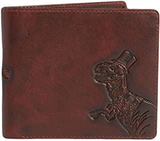 Simon Carter Mens T-Rex Zipped Wallet - Brown