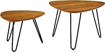 مجموعة طاولة قهوة عصرية متوسطة القرن من ووكر ايديسون فيرنتشر كومباني، عُشد، خشب الجوز