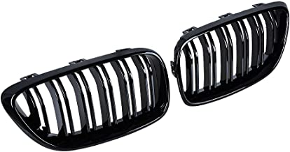 Glossy Black Front Grill Kidney Grille Compatible with 2014-2018 BMW M2 F87 F22 F23 220i 230i 235i