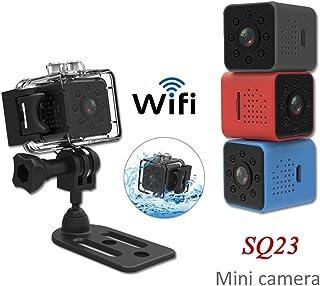 DishyKooker SQ23 - Minicámara HD WiFi 1080P con sensor de vídeo visión nocturna videocámara de microcámaras DVR