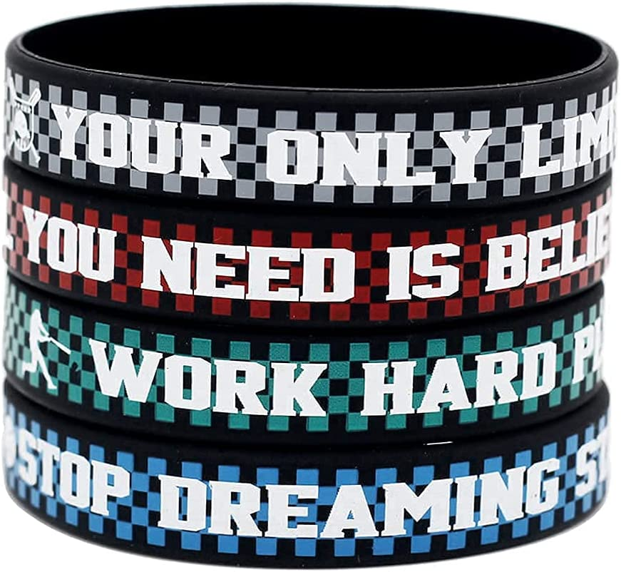 free Fashion Rubber Inspirational Silicone Si Cheap mail order specialty store Personalized Bracelets