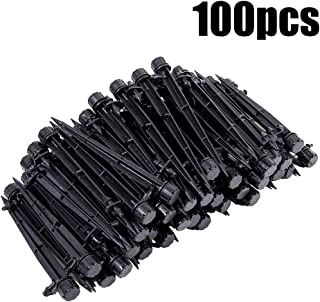 HANSHA 100pcs Barbed Barb Drip Emitters Adjustable Irrigation Drippers Flower beds, Vegetable Gardens for 1/4 inch Tube