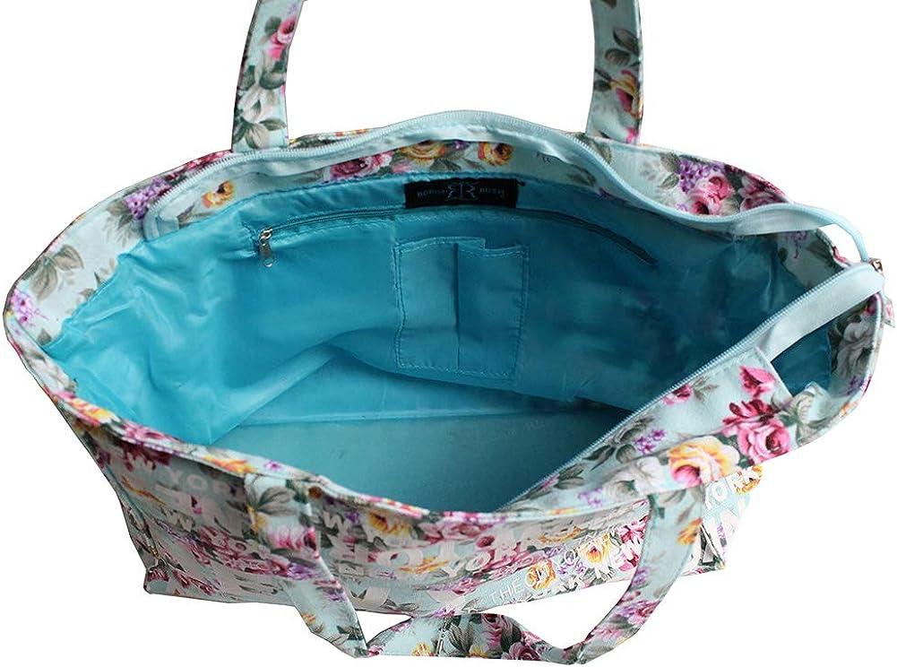 Robin Ruth New York Floral Cotton Tote Shoulder Bag