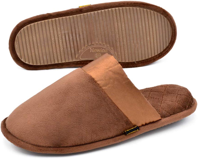 Newina Women's Comfort Microfiber Velvet Slippers with Memory Foam Washable Slip-on House shoes