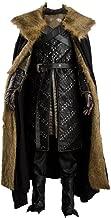 GoT 7 Northern King Jon Snow Armor Outfit Cosplay Costume Men's Halloween Winter Coat Cape