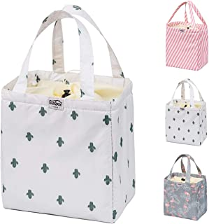 Reusable Lunch bag, Insulated Bento Box Cooler, Tote Handbag Container Women- Lunch tote Women, Kids, Students- waterproof