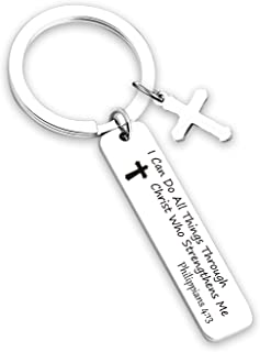 G-Ahora Inspirational Christian Gift Scripture Keychain Verse Bible Keyring Cross Pendant Jewelry Religious Keychain Gift ...