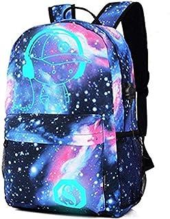 Mochila para port/átiles de 15,6 Pulgadas Mochila para port/átil Anime Luminous Waterproof Universe para Adolescentes ni/ños Elegante y Duradera Kono Mochila Escolar