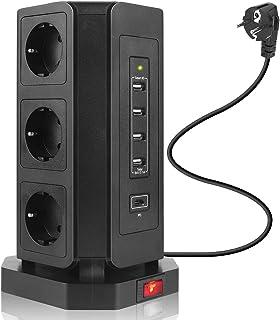 Safemore-Extension Lead Tour Parasurtenseur 8 voies prise multiple Plug