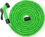 Expandable Garden Hose Kit |100FT Stretchable Water Hose with Nozzle Fittings | Flexible