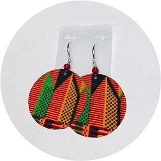 Kente Cloth Fabric Earrings African Soul Earrings