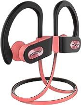 Mpow Flame Bluetooth Headphones Sport IPX7 Waterproof Wireless Sport Earbuds, Richer Bass HiFi Stereo in-Ear Earphones, 7-9 Hrs Playback, Running Headphones W/CVC6.0 Noise Cancelling Mic, Pink
