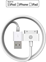 iPhone 4s Cable,OPSO [Apple MFi Certified] 30 pin to USB Sync and Charging Cable for iPhone 4/4s,iPad 1/2/3,iPod Touch,iPod Nano - 4.0 Feet (1.2 Meter) - White