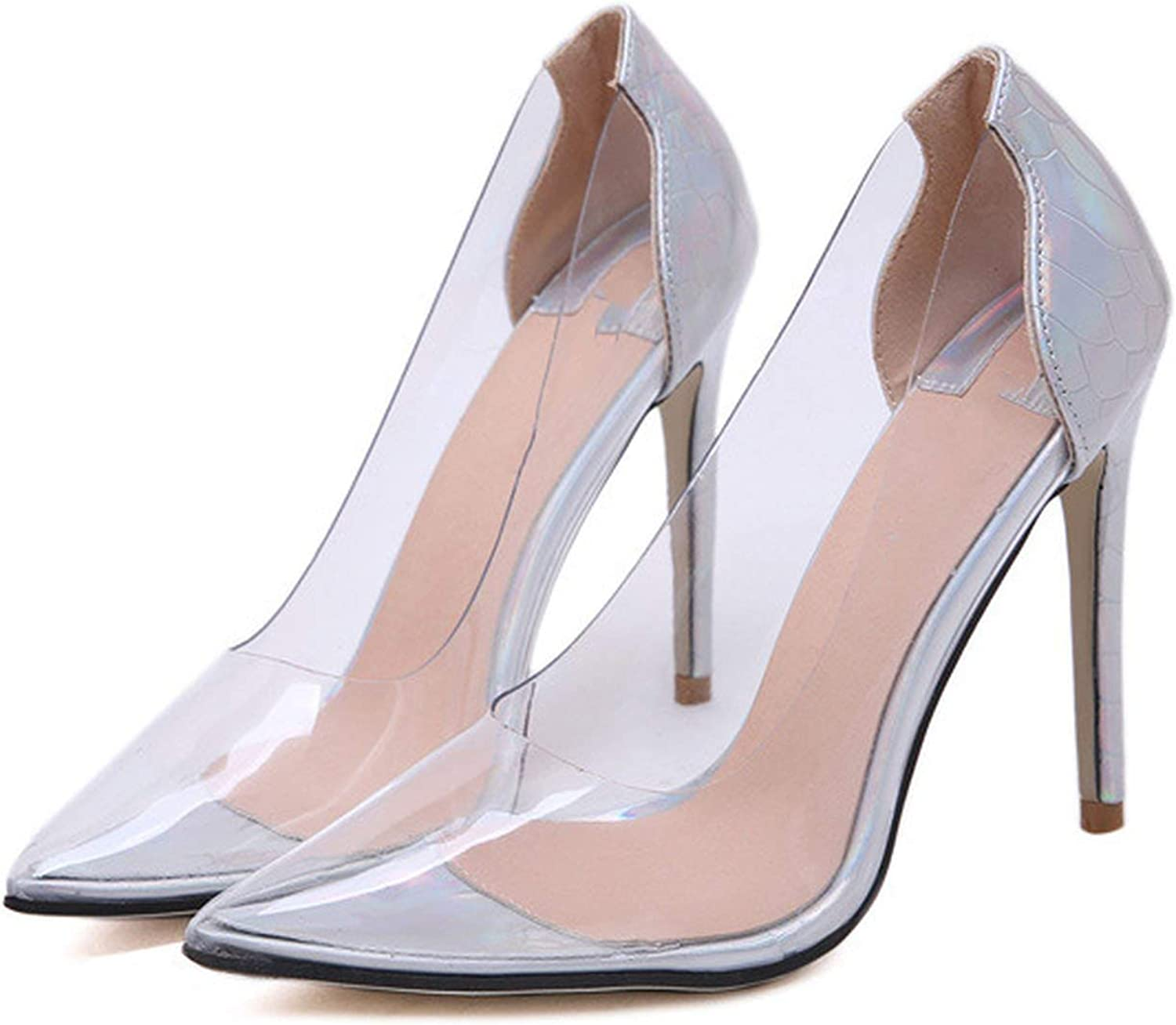 Sonder-Store Transparent Pumps Fashionable color Wedding shoes High Heels Pointed Toes Womens Party shoes Nightclub Pump