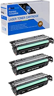 Inksters Compatible Toner Cartridge Replacement for HP 647A CE260A Black - Compatible with Color Laserjet CP4000 CP4025 CP4025DN CP4025N CP4500 CP4520 CP4525 CP4525DN CP4525N (3 Pack)