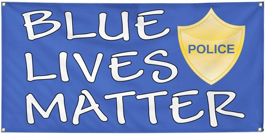 Vinyl Banner At the price Multiple Sizes Blue Lives Profession High quality new Matter Police