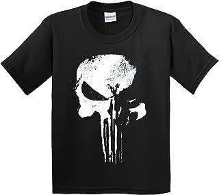 New Way 687 - Youth T-Shirt New Daredevil Punisher Skull Logo
