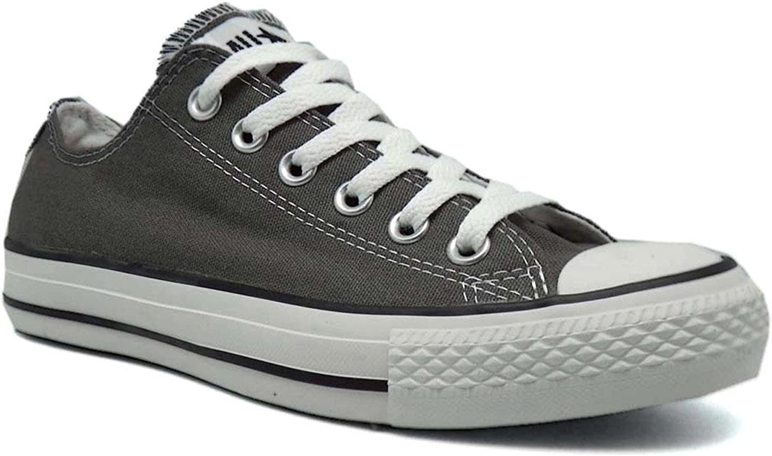 Converse Chuck Taylor All Star Core Optical White M7652 (7 (Men)   9 (Women) US, Charcoal)