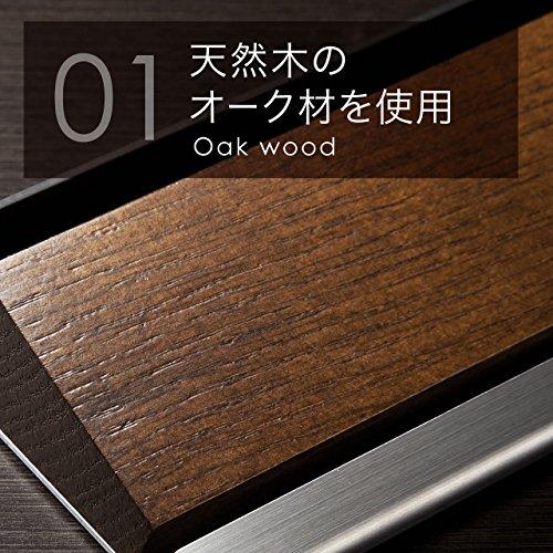 SANWASUPPLY(サンワサプライ)『タブレット・スマートフォンスタンド(オーク&ステンレス素材)(200-STN020S)』