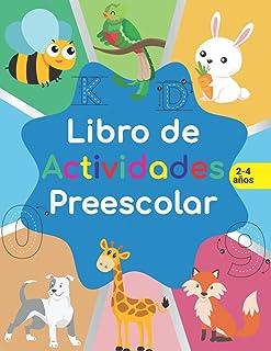 Libro de actividades preescolar: libro de Actividades en Casa 2-4 años, Aprender a repasar lineas, aprender a escribir núm...