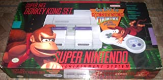 Super Nintendo SNES System - Video Game Console - Donkey Kong Bundle