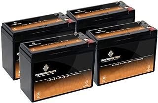12V 10AH SLA Battery replaces REC10-12 ES10-12S PSH-12100F2 UB12100-S (4 Pack)