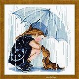 Riolis Unter meinem Regenschirm Kreuzstich-Set