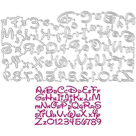 UFLF Dies Chiffres Alphabet Matrices de Découpe Lettre en Métal Scrapbooking pour Timbres Matrices en Relief Décoration de Papier Carte Craft Scrapbooking Cadeau Bricolage